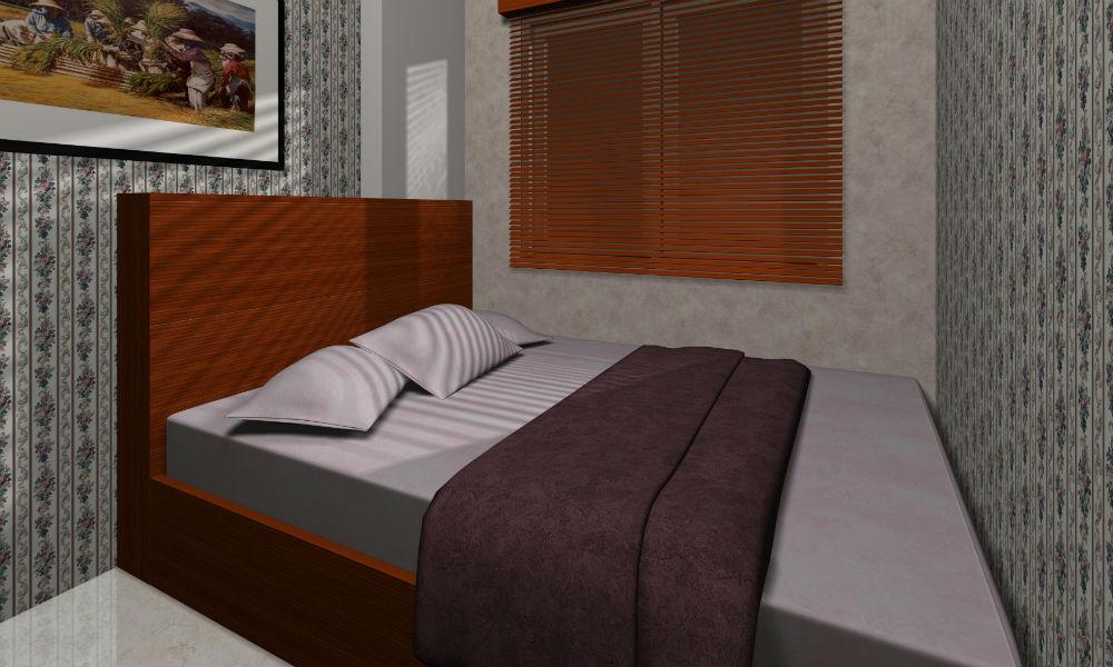 kamar tidur apartemen tipe 66